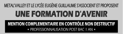Signature d'une convention entre le Lycée Professionnel de Montbard et Métal'Valley