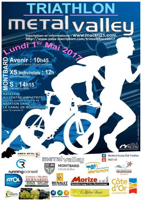 Affiche Triathlon Métal'Valley 2017
