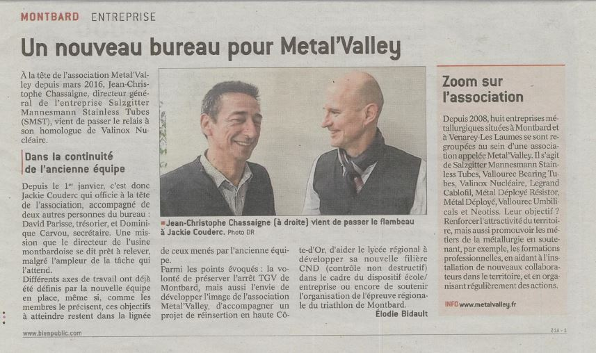 Changement de bureau à la Metal Valley
